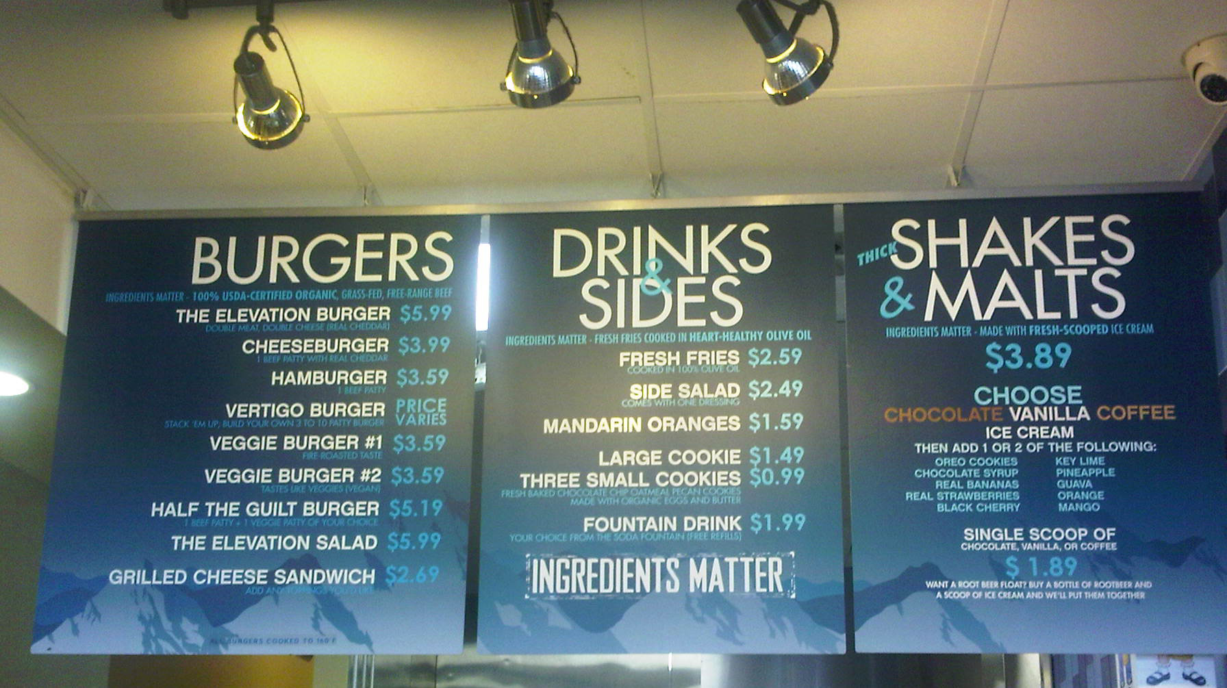 In N Out Menu >> Elevation Burger | Blonde Burger Critic